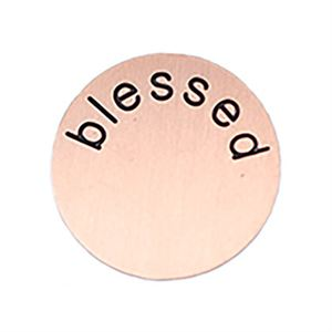 Picture of 'Blessed' Medium Rose Gold Coin